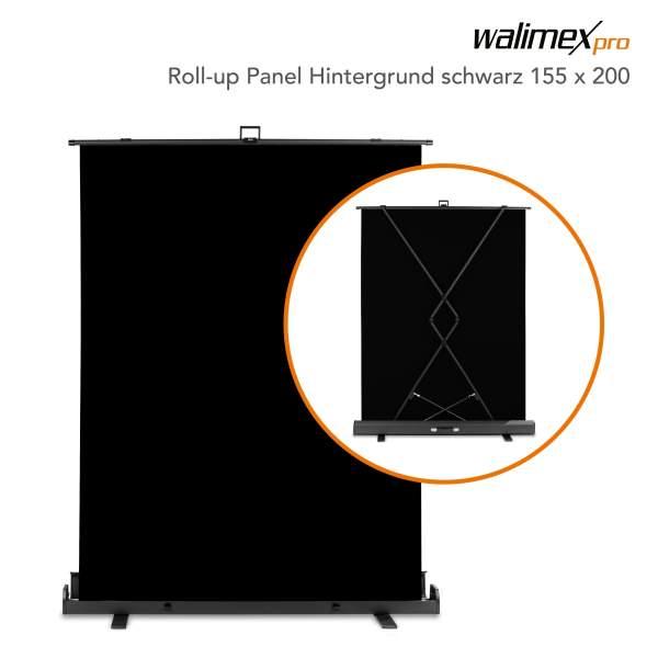 Walimex pro Roll-up Panel Hintergrund schw.155x200