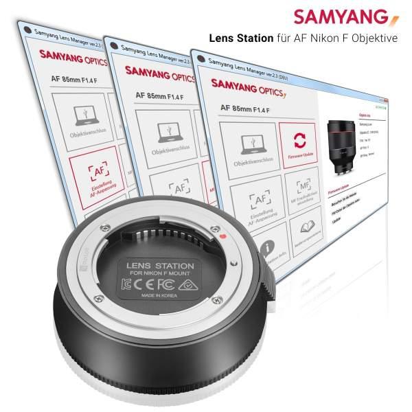 Samyang Lens Station für AF Nikon F Objektive