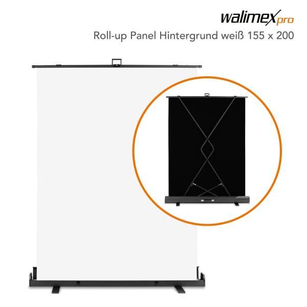 Walimex pro Roll-up Panel Hintergrund weiß 155x200