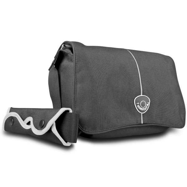 Mantona Cool Bag Kameratasche schwarz/weiß