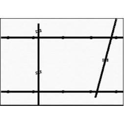 Deckenschiene 1,5 m schwarz
