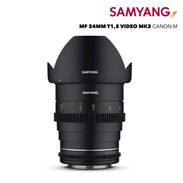 Samyang MF 24mm T1,5 VDSLR MK2 Canon M
