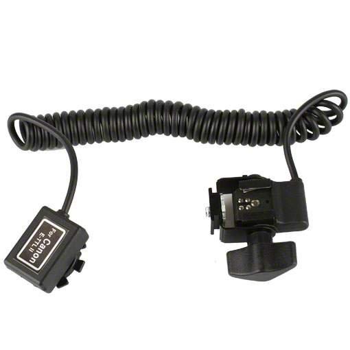 walimex Spiral-Blitzkabel Canon TTL,1/4 Zoll, 2m