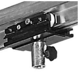 Laufwagen mit Hülse 16,3 mm schwarz