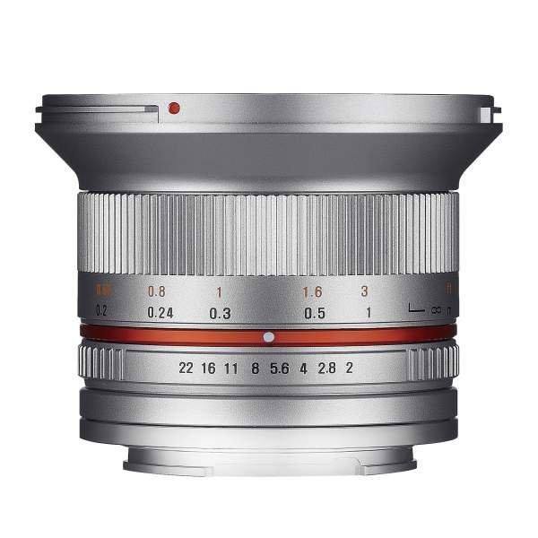 Samyang MF 12mm F2,0 APS-C MFT silber