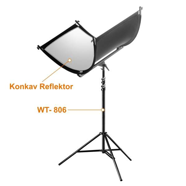 Walimex pro Reflektor Halfpipe + WT-806 Stativ