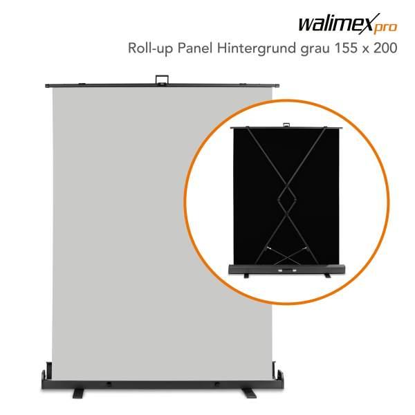 Walimex pro Roll-up Panel Hintergrund grau 155x200
