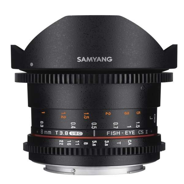 Samyang MF 8mm T3,8 Fisheye II Video APS-C Sony E