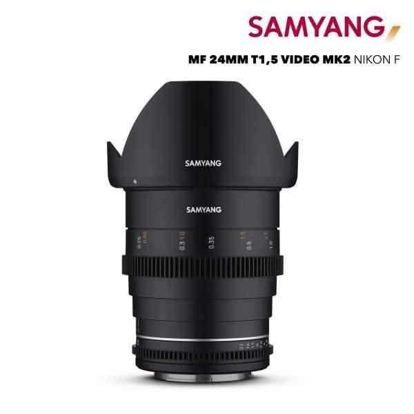 Samyang MF 24mm T1,5 VDSLR MK2 Nikon F