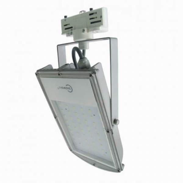 Bioledex 3-Phasen LED Strahler ASTIR 30W 2700Lm 120° 5200K Grau