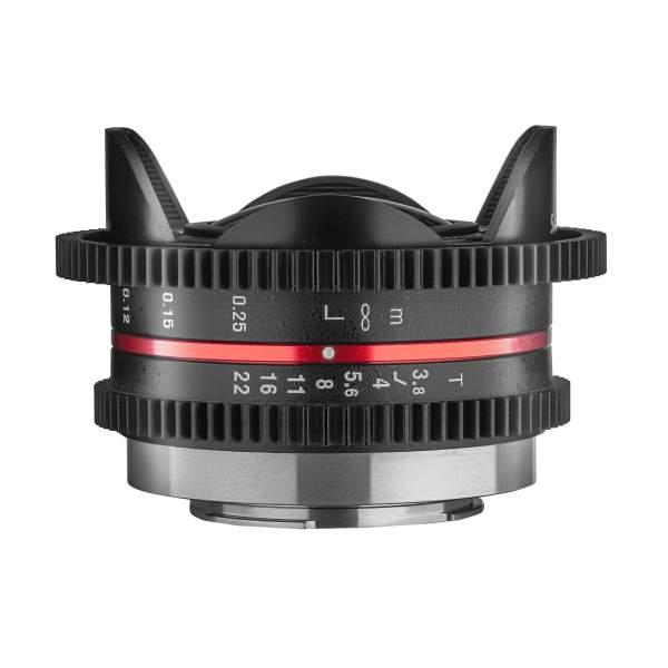 Samyang MF 7.5mm T3.8 Cine UMC Fish-eye mit Micro Fourthirds Mount, für MFT Sensor, manuelles Videoo