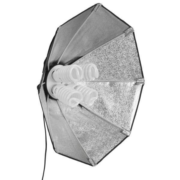 Walimex pro Daylight 1000 Octagon Softbox Ø 60cm, 4x50W