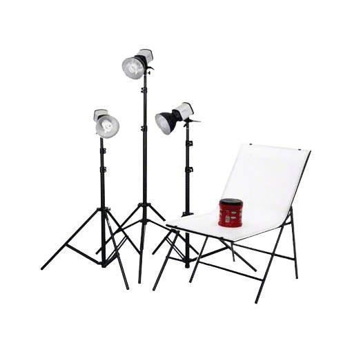 walimex Studioset Daylight 3x150 + Aufnahmetisch