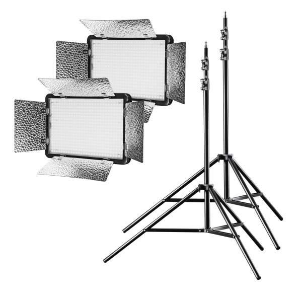 Walimex pro LED Versalight 500 Bi Color 2er Set 2x Leuchte 2x Stativ