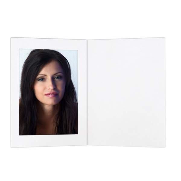 Eventmappe 13x18 mit Passepartout ohne Tasche weiß