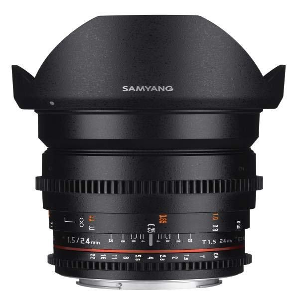 Samyang MF 24mm T1,5 Video DSLR II MFT