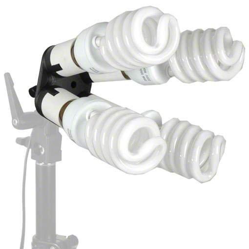 Walimex 4-fach Lampenhalterung mit 4 Tageslampen
