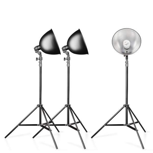 Walimex Studioset Daylight 3er Set plus 3 Stative