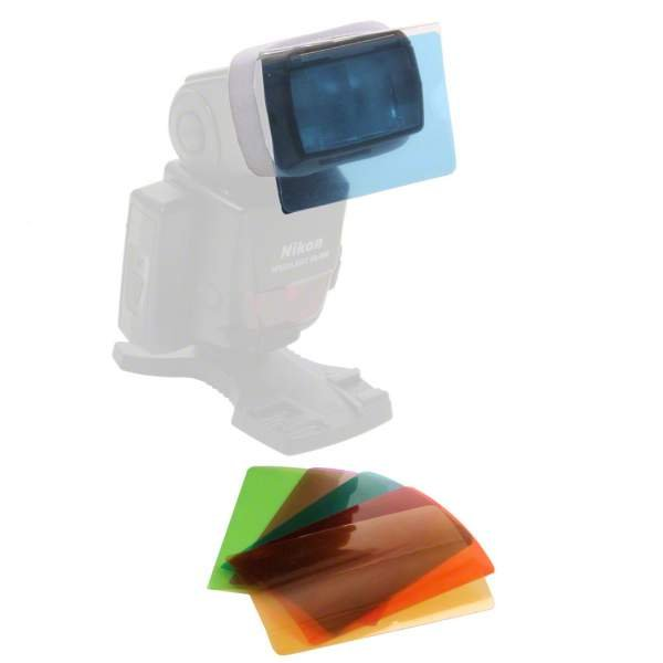 Walimex Farbfilter-Set für Kompaktblitze, 6tlg
