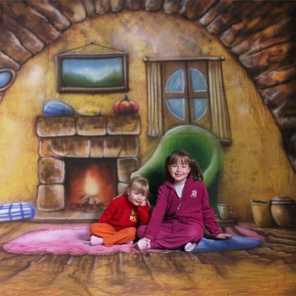 Walimex pro Motiv-Stoffhintergrund 'Homey', 3x6m
