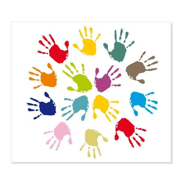 """Kindermappe """"Hände"""", Weißkarton (VPE mit 25St.)"""