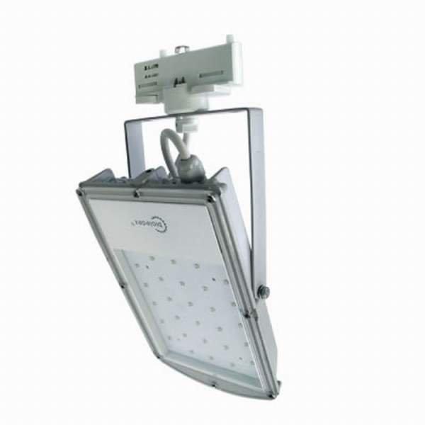Bioledex 3-Phasen LED Strahler ASTIR 18W 1500Lm 70° 5200K Grau