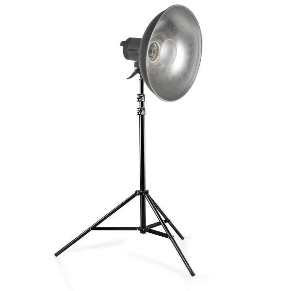Walimex pro Quarzlight VC-1000 + Beauty Dish + WT-806 Stativ