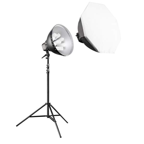 Walimex pro Daylight-Set 1260 mit Softbox, Ø 80cm
