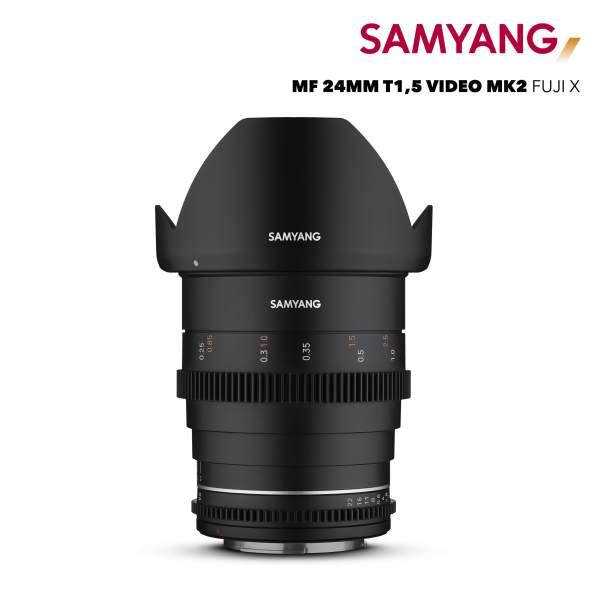 Samyang MF 24mm T1,5 VDSLR MK2 Fuji X