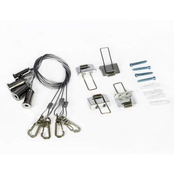 Bioledex Seilsystem für LED Panel Seilaufhängung inkl. Decken-Ei