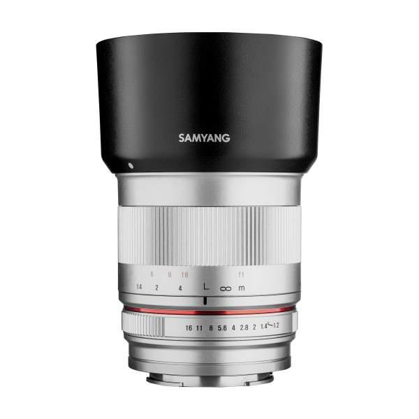 Samyang MF 50mm F1,2 APS-C Sony E silber