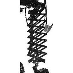 Doppelschere Auszug 220 cm schwarz